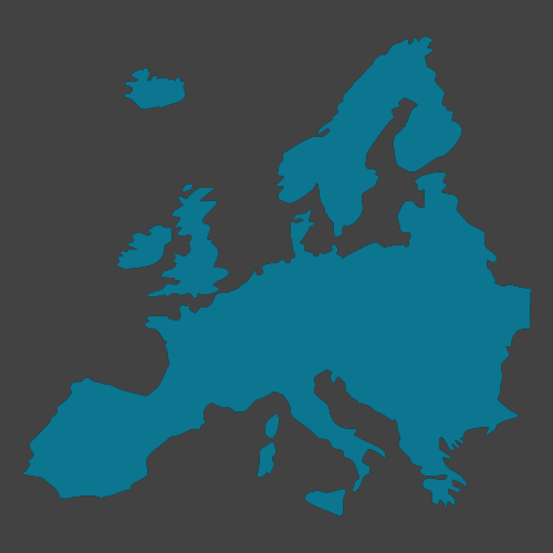 Silhouette of Europe